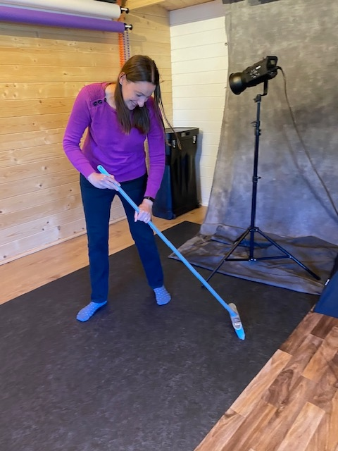 trebor photography - Louise sweeping inside the Braintree studio